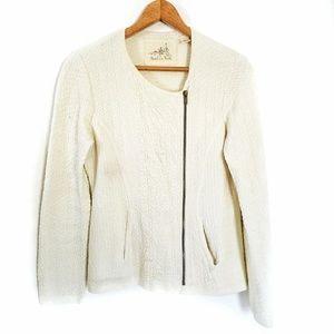 Anthro Angel of the North zip front blazer sweater